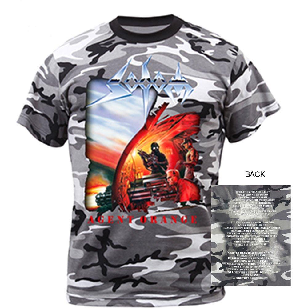 4e8be534a Amazon.com  Sodom- Agent Orange (Front Back) T-Shirt Size S  Clothing