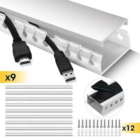 Amazon.com: Cable Raceway Kit, Stageek Cable Management System Kit ...