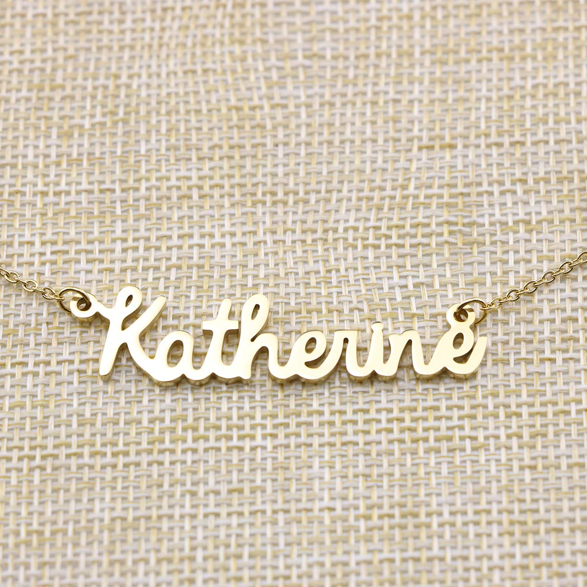 50b7a1ee6 Yiyang Personalized Name Necklace 18K Gold Plated Stainless Steel Pendant  Jewelry Birthday Gift for Girls YN