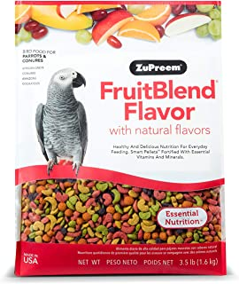 product image for ZuPreem FruitBlend Flavor Pellets Bird Food for Parrots and Conures | Powerful Pellets Made in USA, Naturally Flavored for Caiques, African Greys, Senegals, Amazons, Eclectus