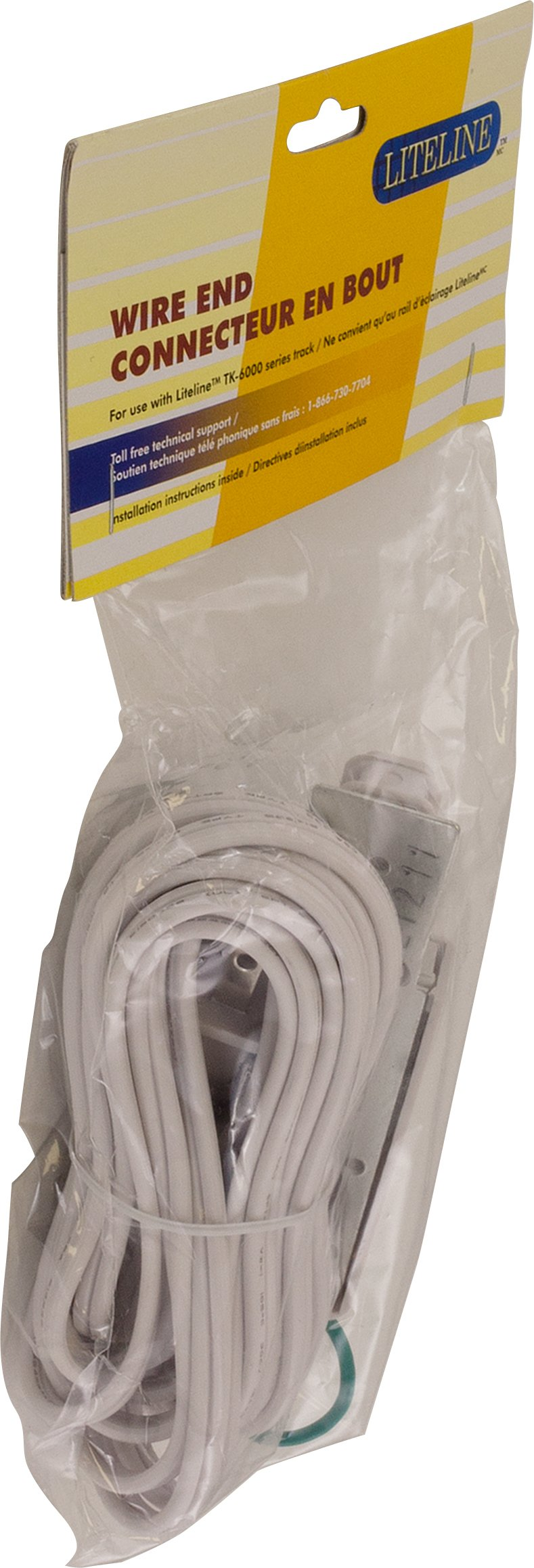 Liteline WE6110-WH Wire End For Track Fixtures, White by Liteline Corporation (Image #2)
