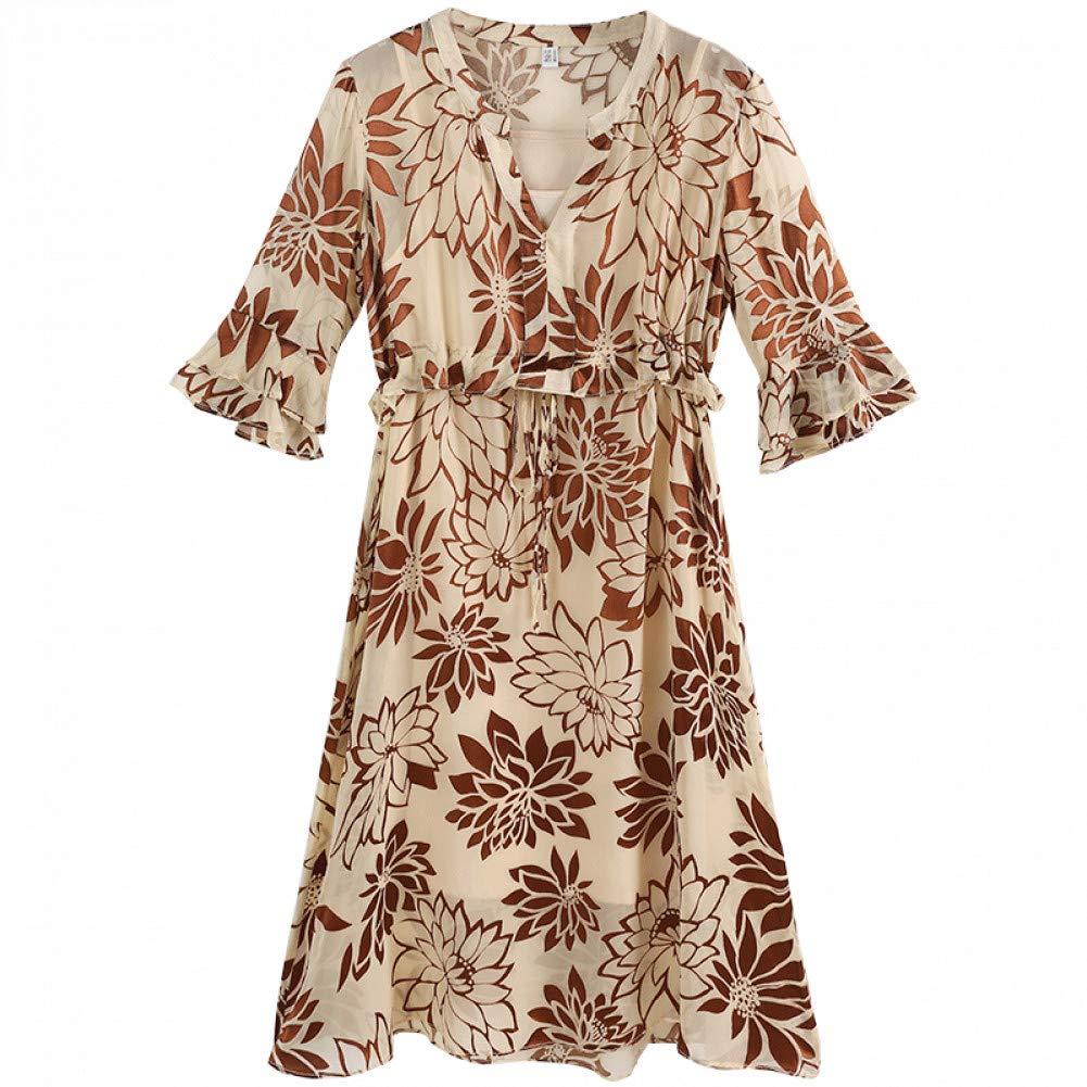 L BINGQZ Spring new women's ladies fashion atmosphere silk jacquard dress ruffled long skirt women