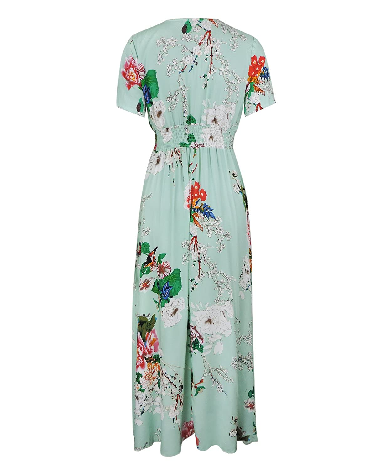1ba623ef04 COMFORTABLE RAYON MATERIAL: Made of Rayon, the long bohemia maxi dress is  soft, breathable and skin-friendly.