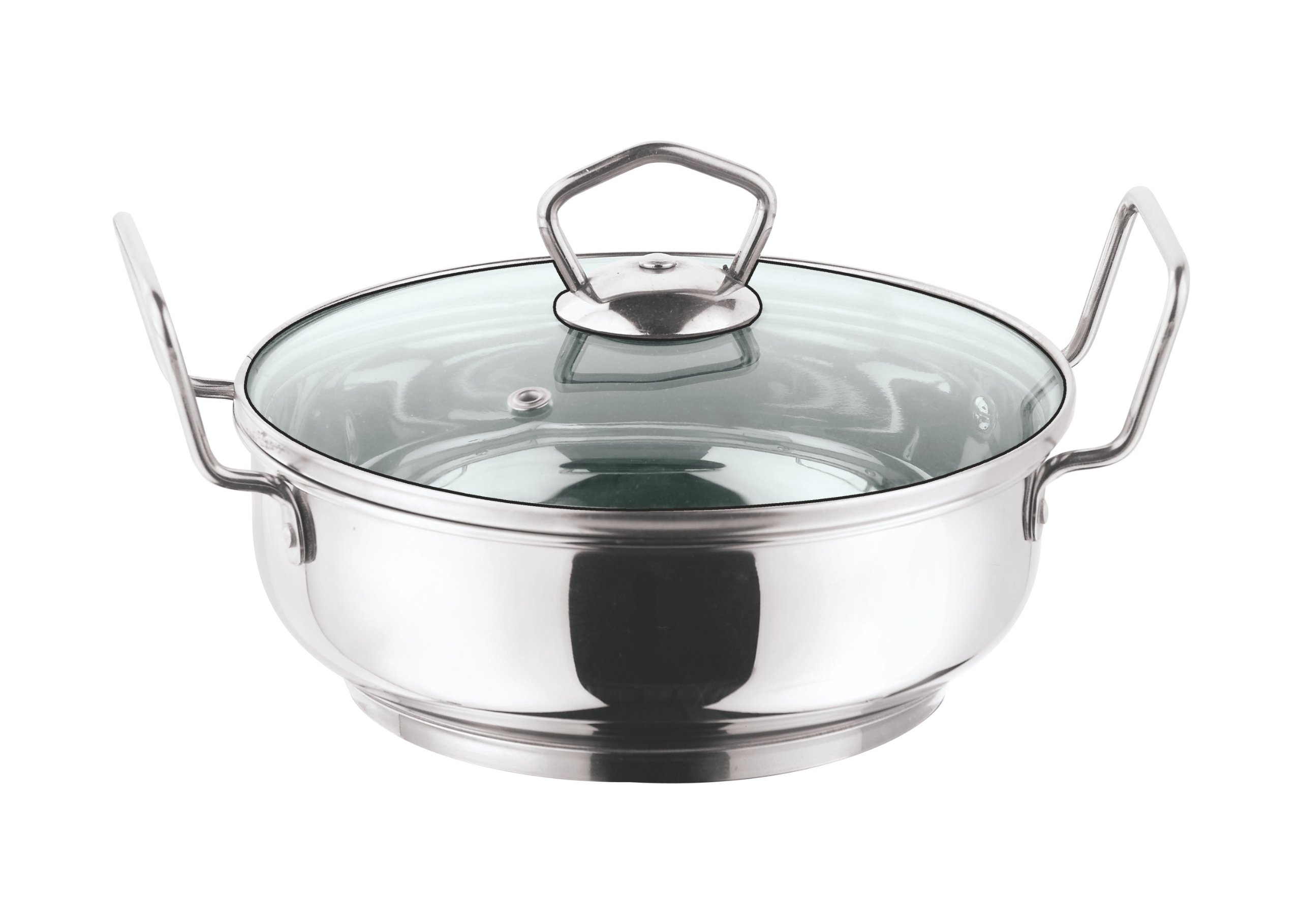 Vinod Stainless Steel Kadai with Lid 4.5 Liters