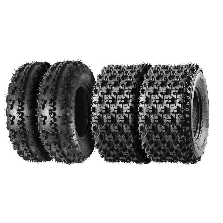 Set of 4 Sport ATV Tires 21x7-10 Front & 20x10-9 Rear 4PR Load Range B 21x7x10 & 20x10x9 by MaxAuto