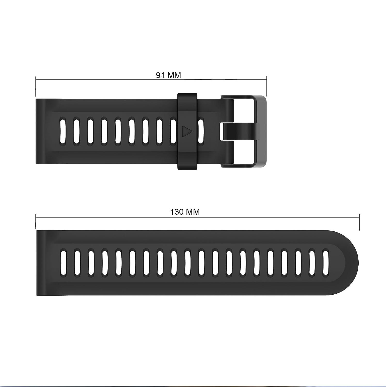 Amazon.com: CSVK Garmin Fenix 3/Fenix 5X Watch Band, Soft Silicone Replacement Watch Accessory Strap for Garmin Fenix 3/Fenix 3 HR/Fenix 5X /5X Plus/Descent ...