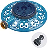 Sprout 65102-AMZ Metal 8-Pattern Sprinkler and QuickConnect Product Adapter Amazon Bundle, Blueberry Blue