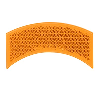 Grand General 81200 Amber Half-Moon Stick-On Reflector for Trucks, Towing, Trailers, RVs and Buses, 1 Pack: Automotive
