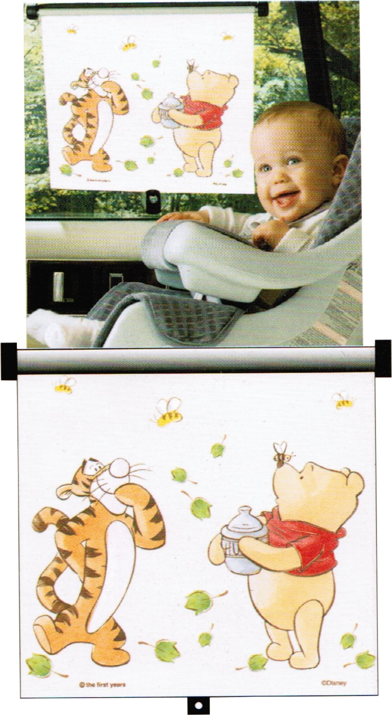 Disney Baby Sincerely Pooh Adjust and Lock Car Window Sunshade The First Year Inc. 3357