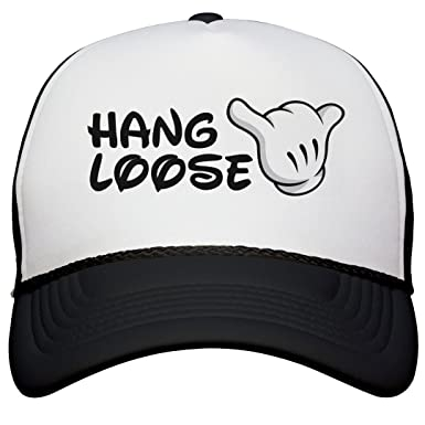 Amazon.com  FUNNYSHIRTS.ORG Hang Loose Hat  Snapback Trucker Hat ... d4964efc68f