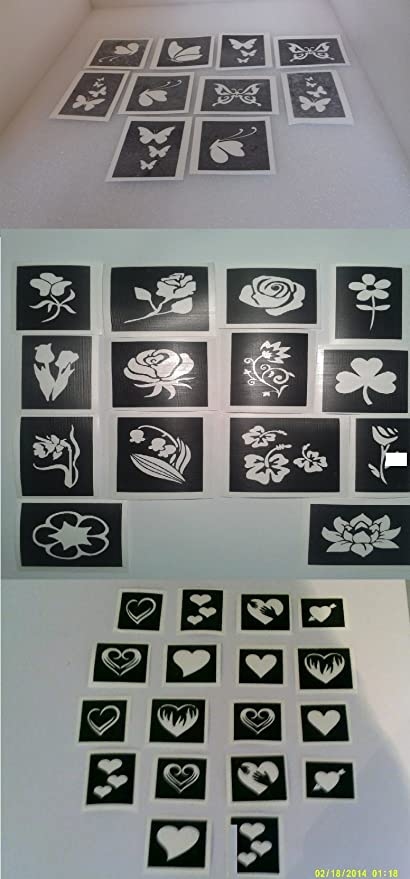 roses flower stencil mix for etching glass  craft present etch hobby 4 designs