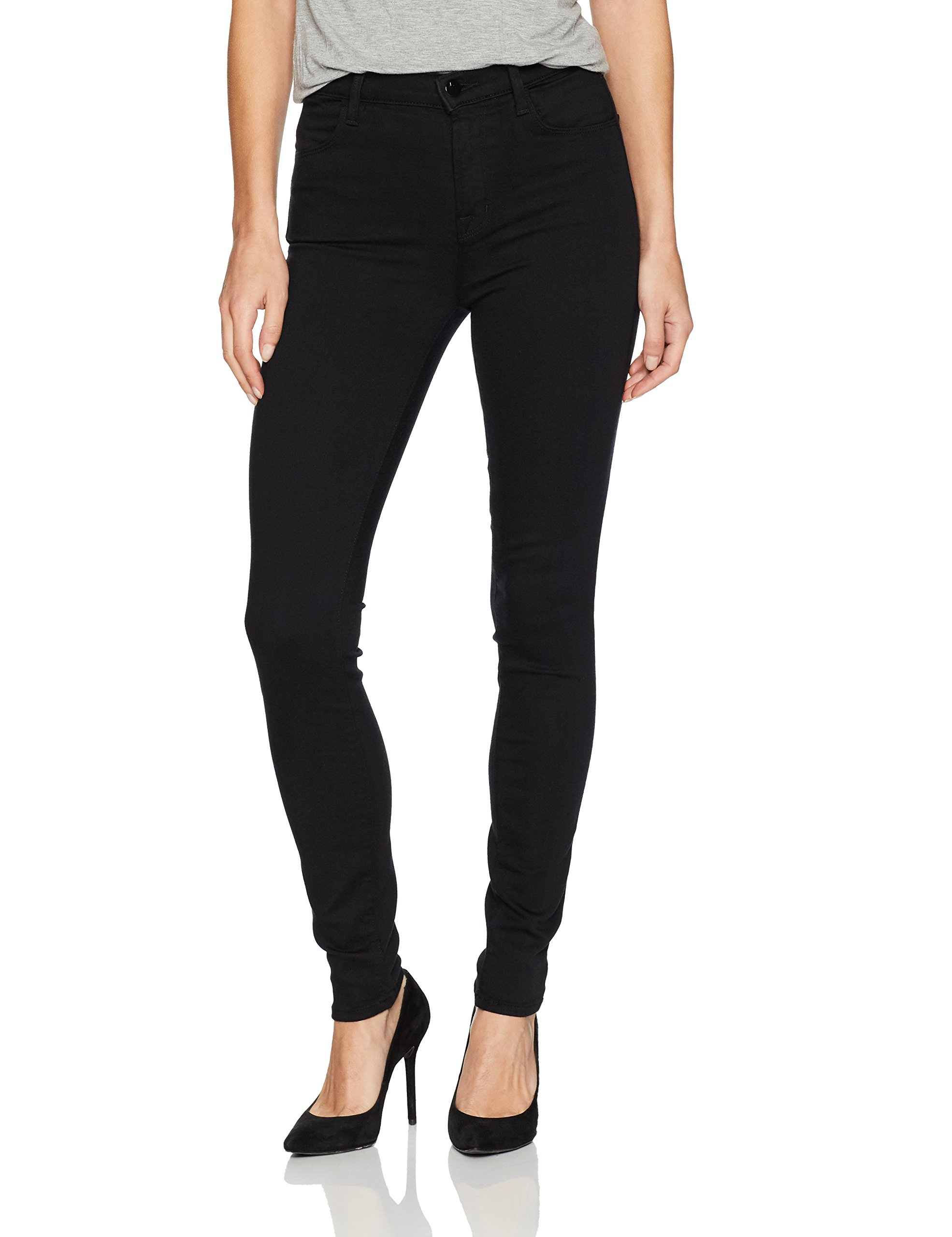 J Brand Jeans Women's 23110 Maria High Rise Skinny Jean, Seriously Black, 28