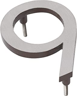"""product image for Montague Metal Products MHN-10-F-AC2-9 Solid Brushed Aluminum Modern Floating Address House Numbers, 10"""", Satin Nickel Powder Coated Antique Copper Two-Tone"""