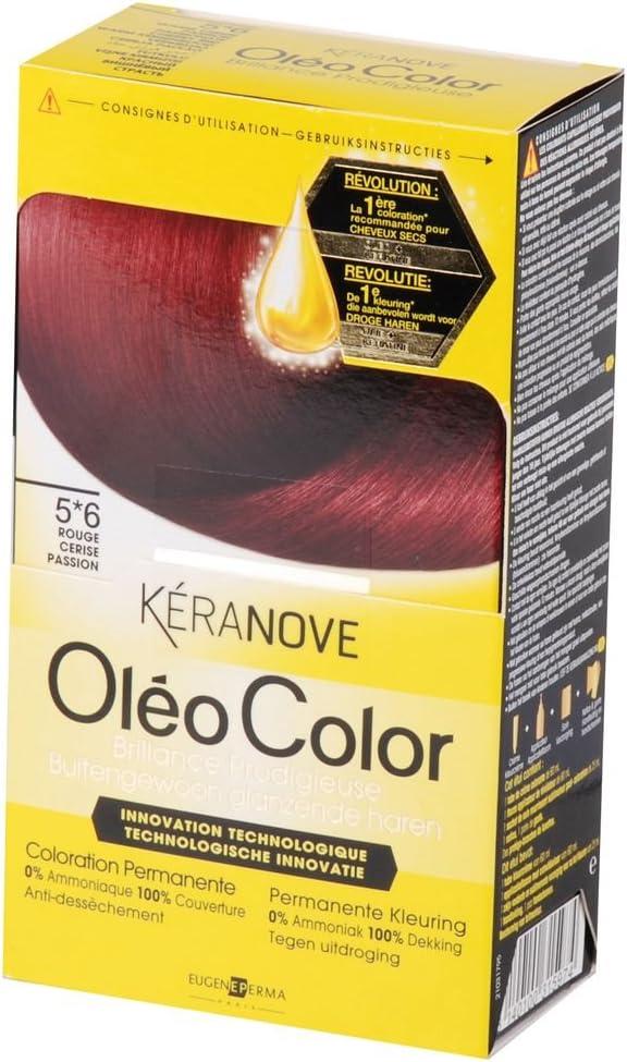oléo color coloración permanente – 5 * 6 rojo cereza pasión ...
