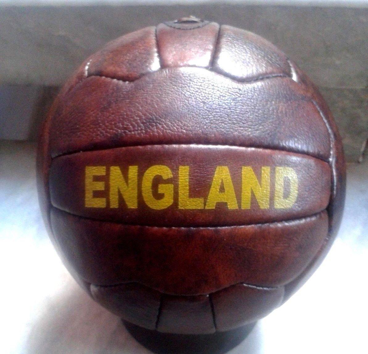 Englandヴィンテージスタイルレザーサッカーボール B018Y0VCMC