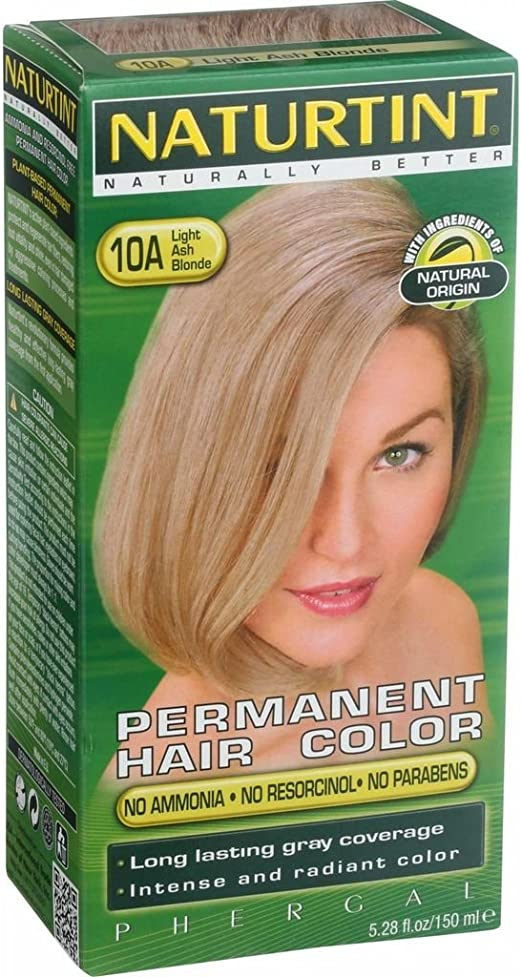 Naturtint Permanent Hair Color - 10A Light Ash Blonde, 5.28 ...