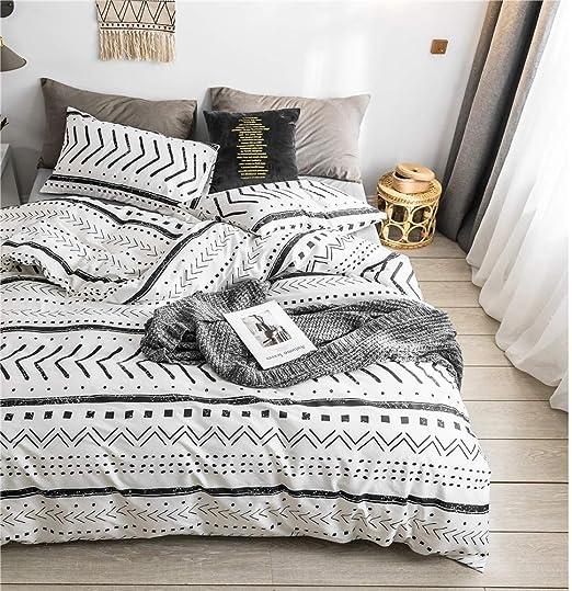 Amazon.com: Bohemian King Bedding Duvet Cover Set   Black Striped