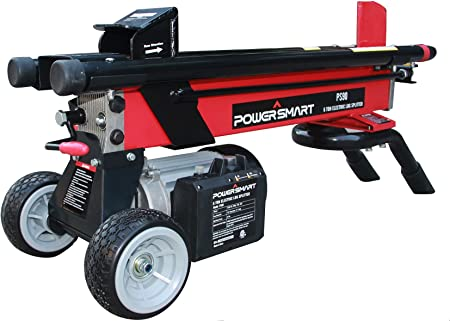 Amazon Com Powersmart Log Splitter Ps90 6 Ton 15 Amp Electric Log Splitter Standard Size Power Log Splitter Color Red And Black Ps90 Garden Outdoor