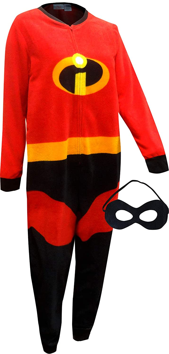 5b6a6bdff2 Amazon.com  Disney Pixar Incredibles 2 Little Boys Blanket Sleeper with  Mask (5T)  Clothing