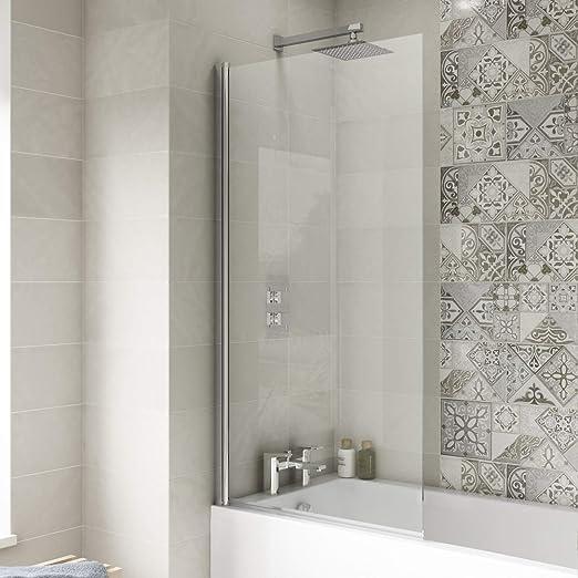 Mampara de baño recta fija 1435 x 790 6 mm: Amazon.es: Hogar
