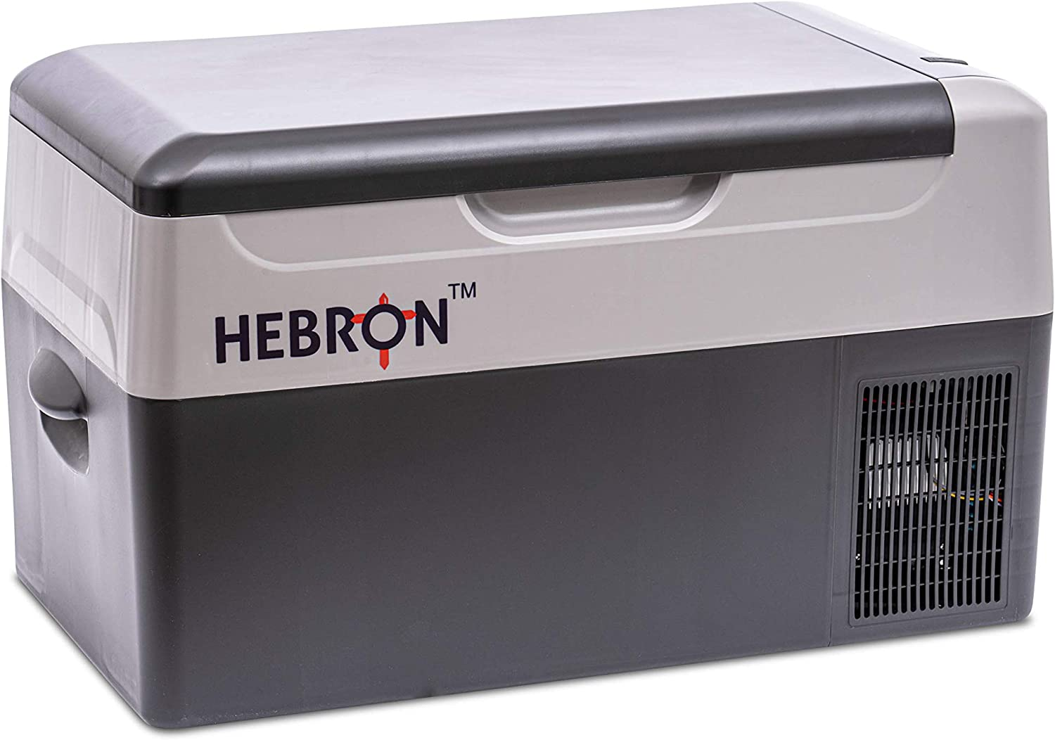 Hebron Automotive 23Q Portable Refrigerator – Efficient Car Fridge/Freezer for Camping, Fishing and Travel - 12/24V DC Mini Chest Cooler for Vans, Campers, RVs and Boats