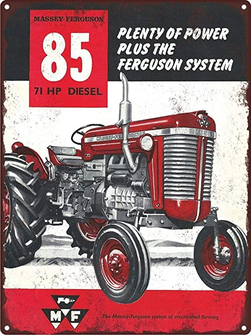 Massey Ferguson Mf85 Diesel Tractor Farm Cartel de Pared de ...