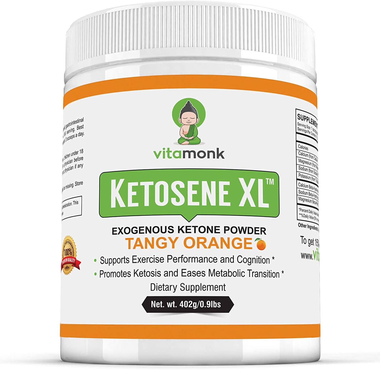 Ketosene XL 30 Servings Extra Large Exogenous Ketones Powder – Kickstart Ketosis Within 1-Hour with a Pure Blend of Calcium and Magnesium Ketone BHB Salts KetoVantage BHB – for Keto Diet Bulk