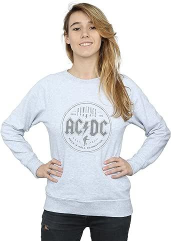 AC/DC Mujer Rock N Roll Damnation Black Camisa De Entrenamiento: Amazon.es: Ropa y accesorios