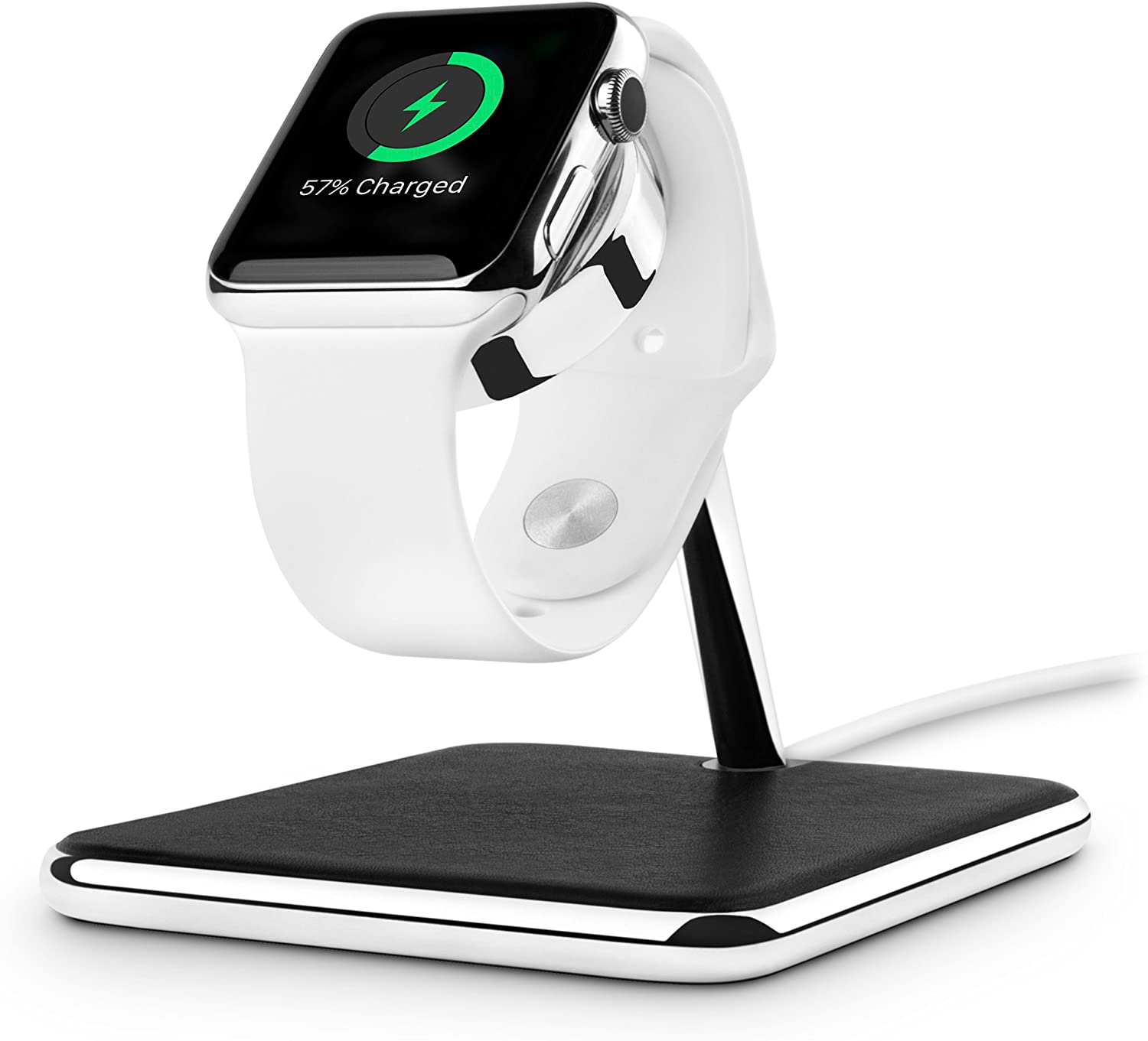 Twelve South Forte for Apple Watch | Chrome and Leather