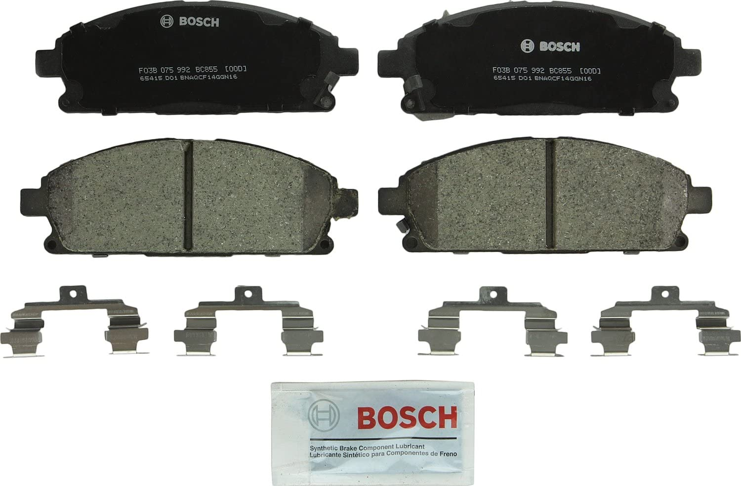 Bosch BE865H Blue Disc Brake Pad Set with Hardware