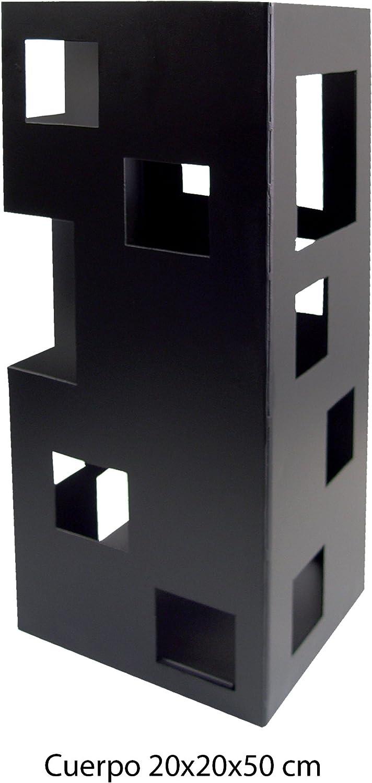Imex El Zorro 10098 Serviteur de chemin/ée inox avec accessoires Noir 50 x 20 x 20/cm