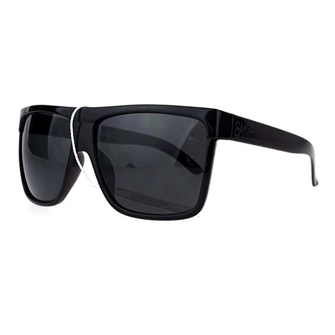 SA106 Oversize Flat Top OG Gangster Plastic All Black Sunglasses