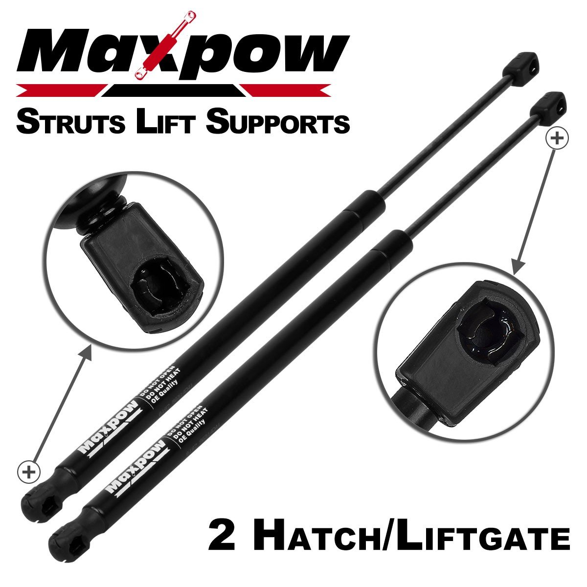 Maxpow 2Pcs Tailgate Trunk Liftgate Lift Supports Struts For 1995-2004 Chevrolet Suburban