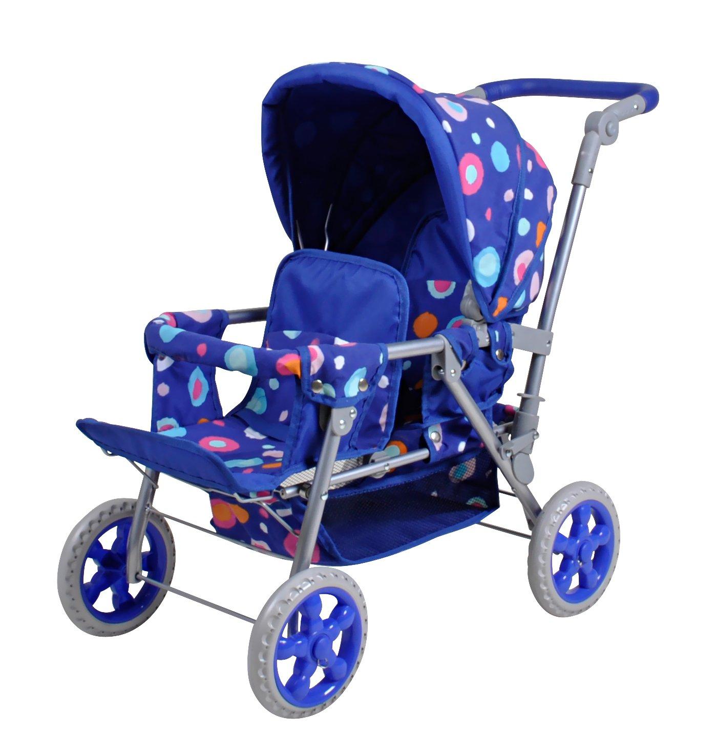 Knorrtoys 16612 Puppenwagen Big Twin Splash, blau