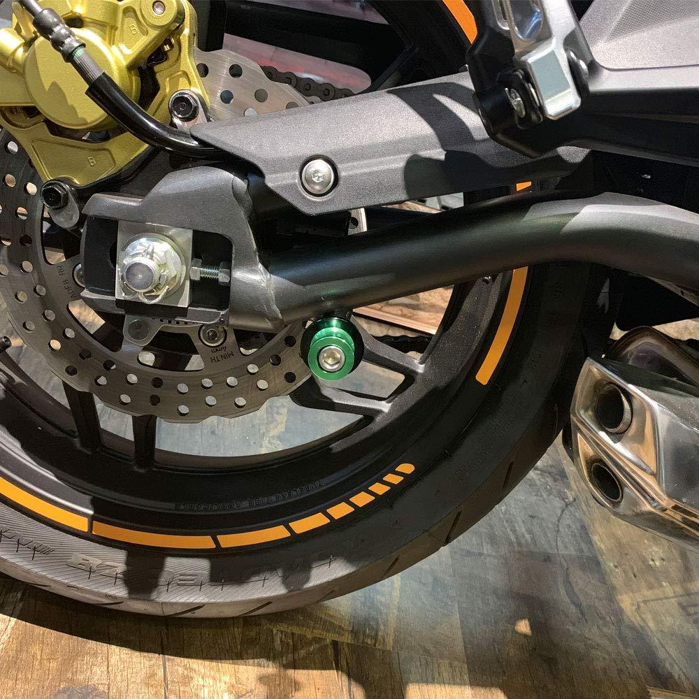 2pcs 10MM M10 X1.25 Motorcycle Swing arm Sliders Spools CNC Swing Arm Stand Screw Black
