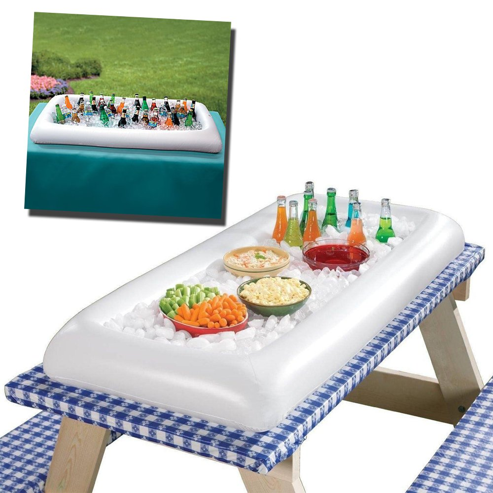 Novelty Place [LARGE SIZE] Inflatable Ice Serving Buffet Bar with Drain Plug - Salad Food & Drinks Tray for Party Picnic & Camping (Pack of 3) by Novelty Place (Image #3)