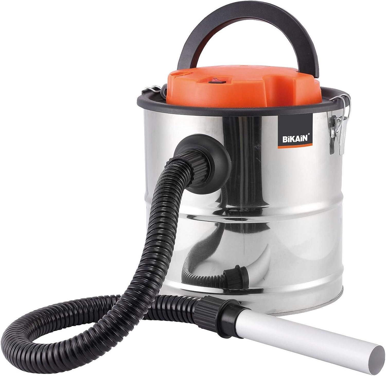 Dicoal DI1200INOX - Aspirador de cenizas (1200 W, 20 L, cuba inoxidable) color plata