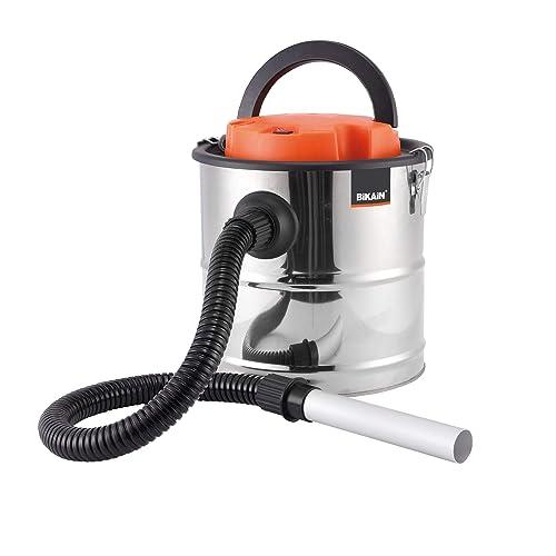 Bikain DI1200INOX - Aspirador de cenizas (1200 W, 20 L, cuba inoxidable) color plata