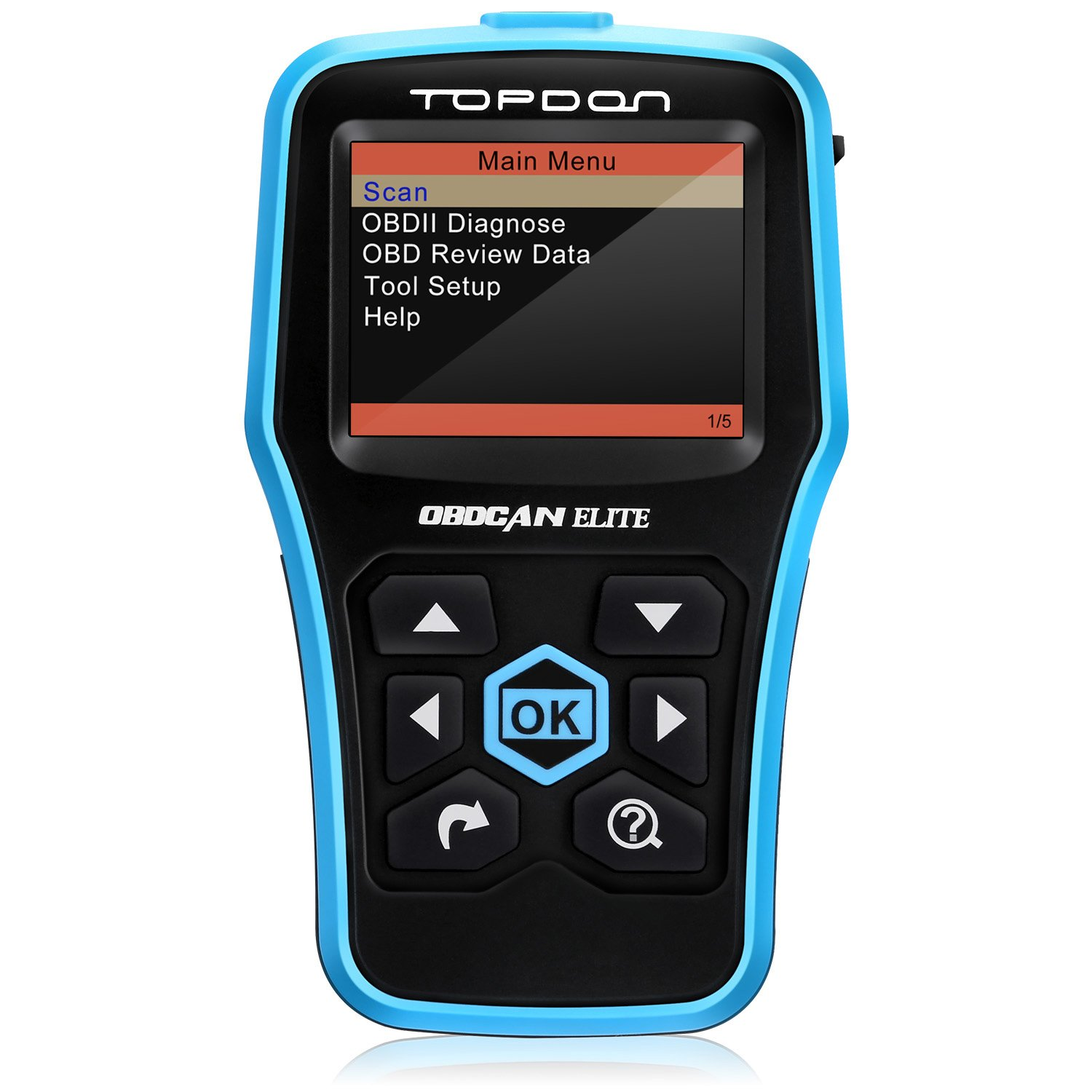 TOPDON Car Diagnostic Tool CANBUS Elite OBD for Full OBD2 Functions plus ABS/SRS