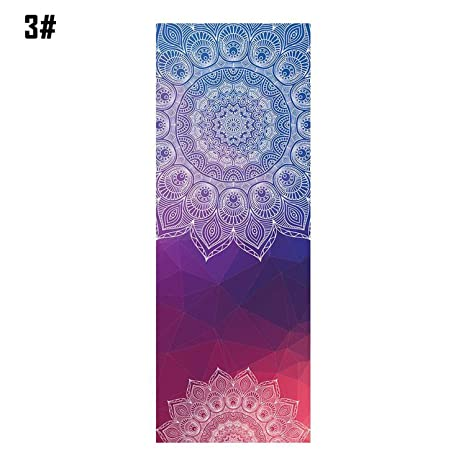 Amazon.com : 18365cm Mandola Print Yoga Blanket Towel ...