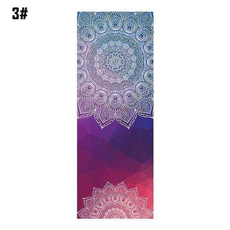 Amazon.com : 18365cm Mandola Print Yoga Blanket Towel ...