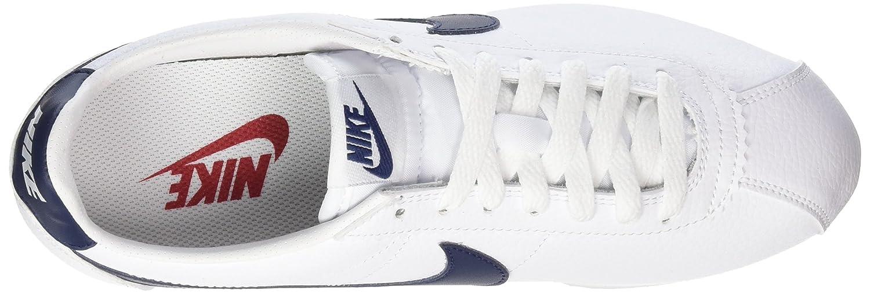 Nike Classic Cortez, Sneaker Uomo, Bianco (WhiteMidnight Navy Gym Red), 40 EU