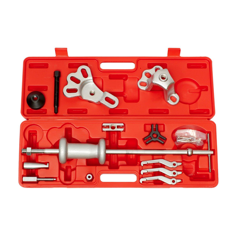 ABN Slide Hammer Puller Set Wheel Bearing Removal Tool w/Slide Hammer Attachments – Wheel Hub Puller Dent Repair Kit by ABN (Image #3)