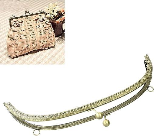12,5/x 7/cm Housweety color bronce 3/cierres con broche para carteras y bolsos
