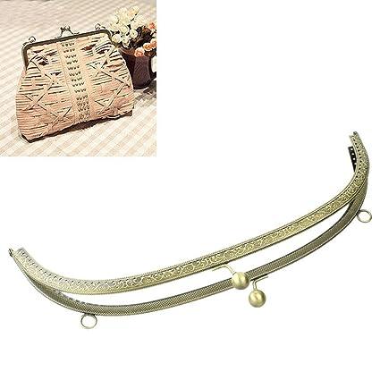 Amazon.com: Housweety 1PC Metal Purse Bag Frame Kiss Clasp Lock ...