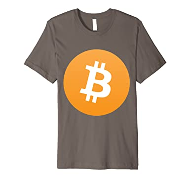 Mens Bitcoin T Shirt 2XL Asphalt