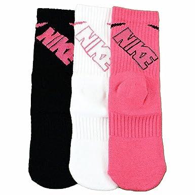 Nike niños niñas Calcetines de 3 Unidades - GNK4493, Rosado: Amazon ...