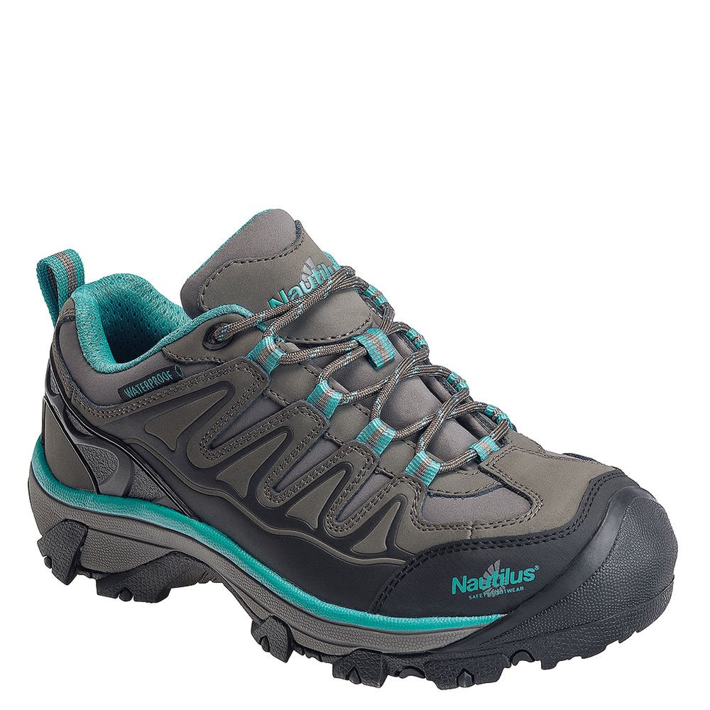 Avenger Leather Waterproof Hiker Women's Oxford 7 B(M) US Grey-Teal