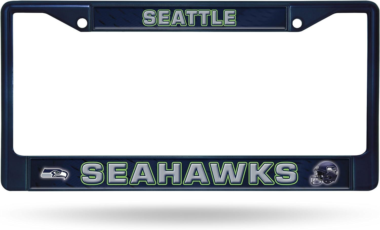 Seattle Seahawks NFL Rico Industries  Standard Chrome License Plate Frame Navy