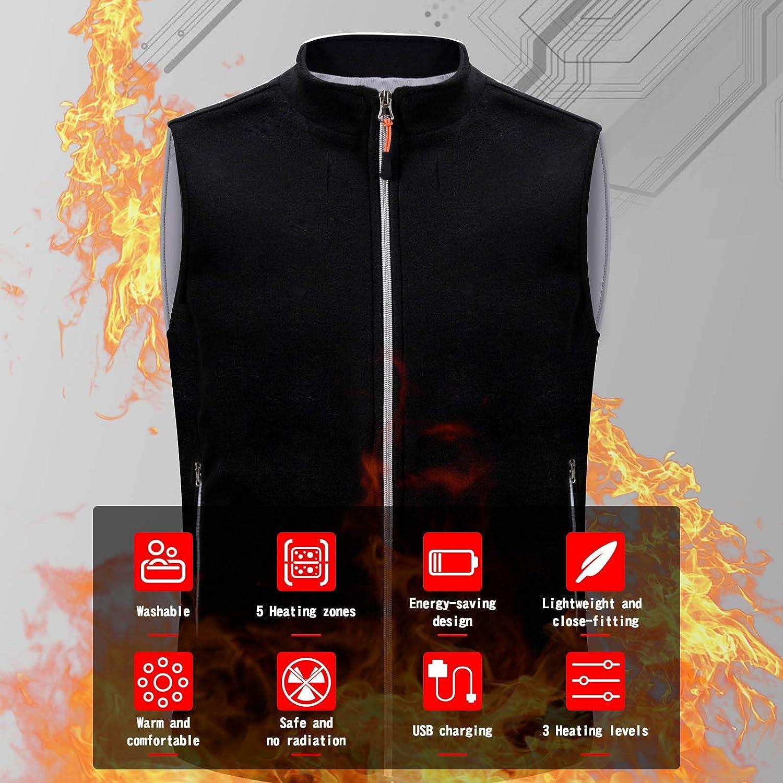 JOYSKY Heated Vest,USB Charging Heating Vest for Men Women No Battery Pack